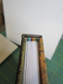 Endbands as taught in Fine Bookbinding
